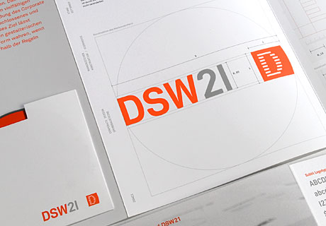 Hier ist die Konstruktion Logo DSW21 abgebildet