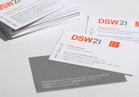 Hier sind die DSW21 Visitenkarten abgebildet