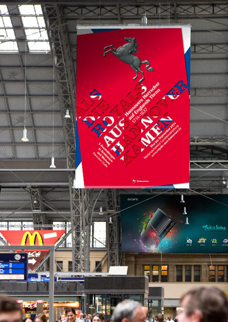 Hier wird das Plakat  zur Landesausstellung 2014 gezeigt