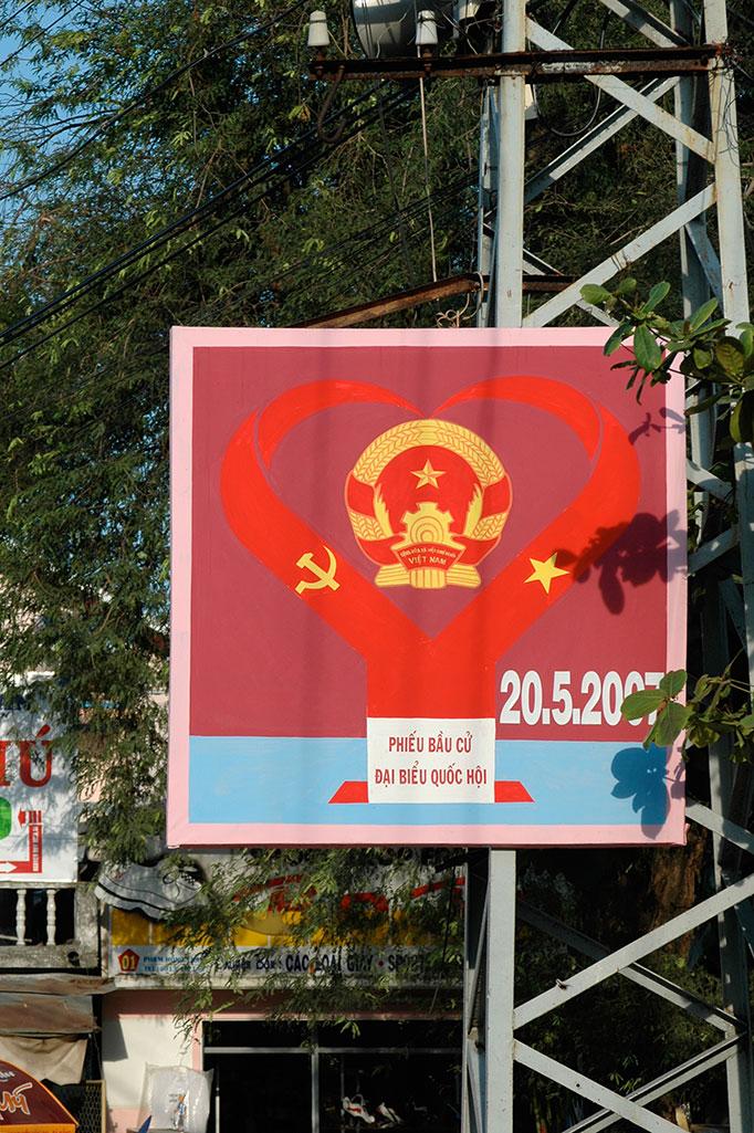 Foto Wahlplakat Vietnam