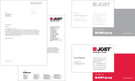 Jöst Briefbogen Standard und Geschäftsführung