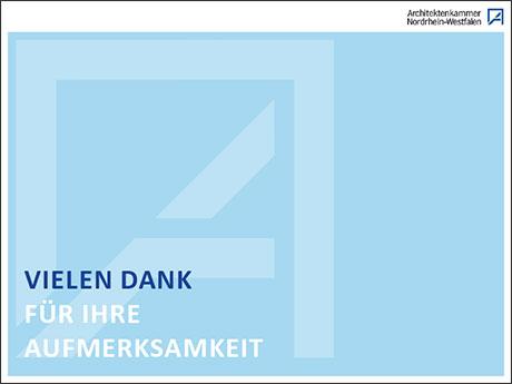 Architektenkammer NRW Danke