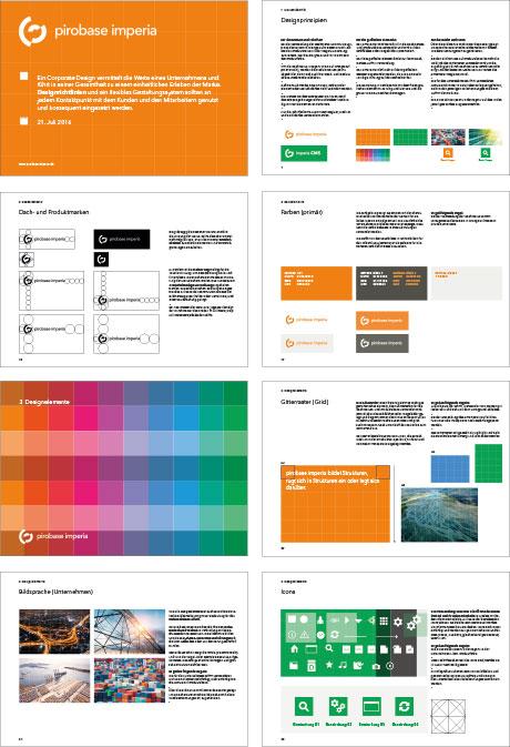 Hier sind Seiten aus den pirobase Guidelines zu sehen
