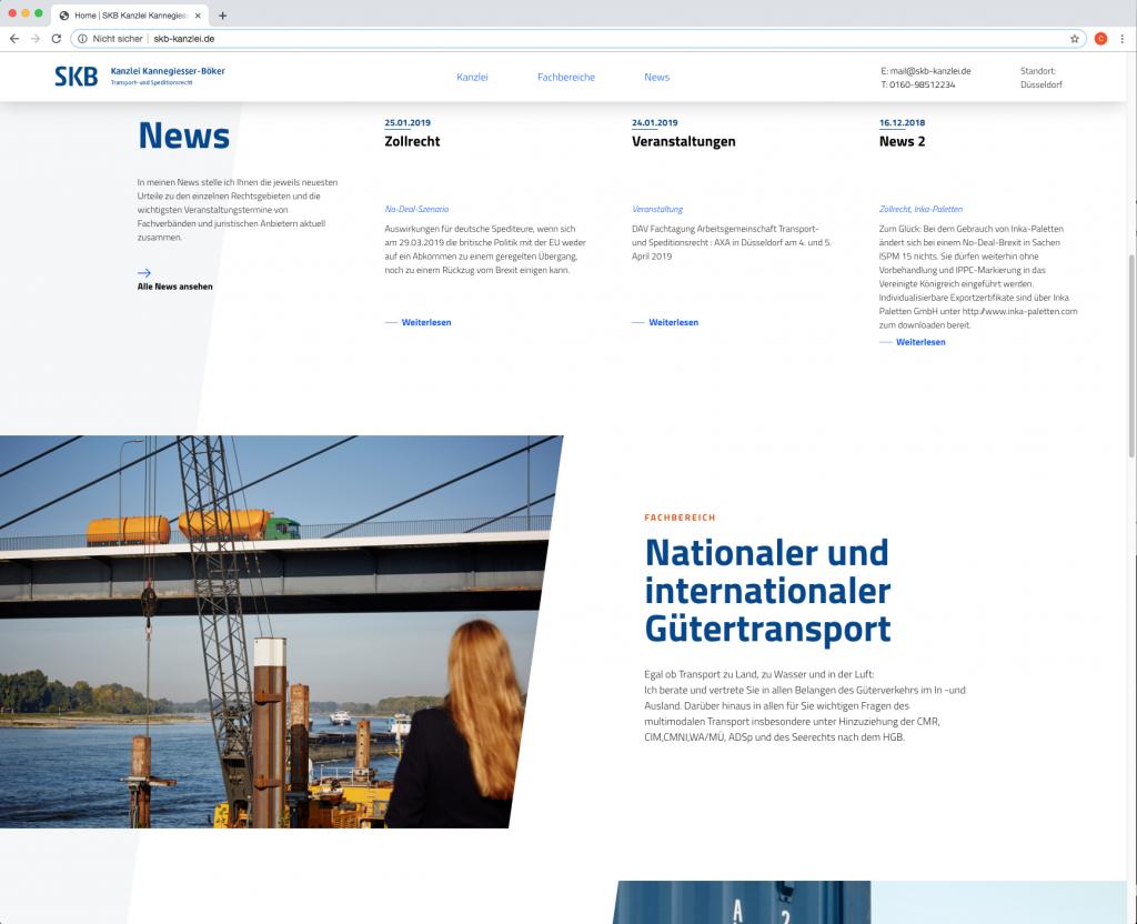 Webseite Fachbereich SKB