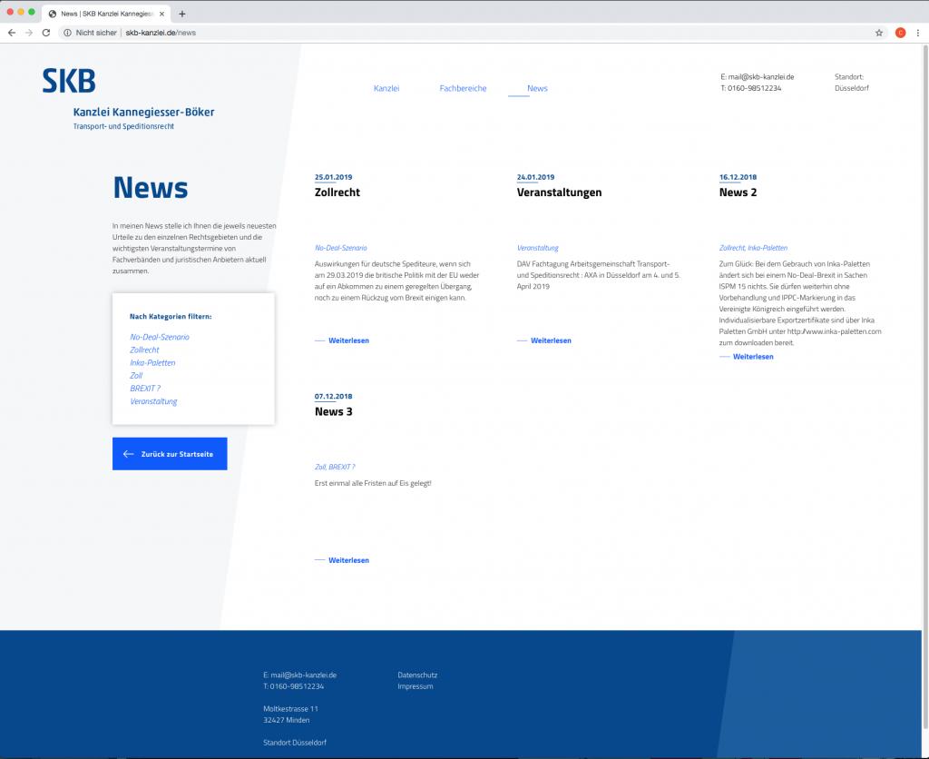 Webseite News SKB